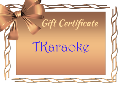 Picture of TKaraoke Gift Card