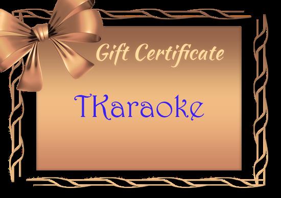 Picture of TKaraoke Gift Card